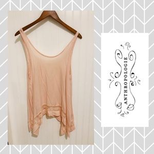 Anthropologie Free People pink lace tank top XS